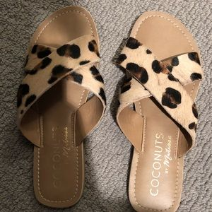 Brand new leopard sandals